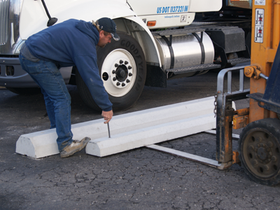 Delivery And Installation Precast Concrete Barriers