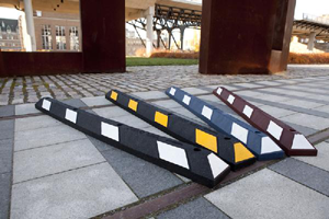 Recycled Rubber Parking Bumpers