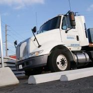 Concrete Truck Bumpers for a Trucking Terminal
