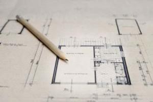 A pencil finishing a blueprint.