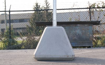 Concrete Sign Bases for Educational Buildings